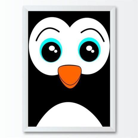 Quadro Infantil Pinguim Desenho Conspecto Quadro Decorativo