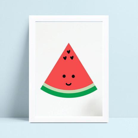 Quadro Infantil Quarto Bebe Desenho Pedaco Melancia Fruta
