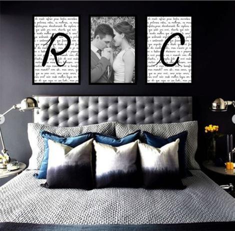 Imagem de Quadro Personalizado Mosaico Quarto De Casal Com Foto