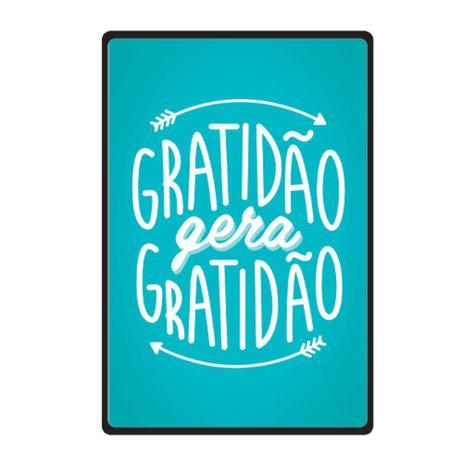 Quadro Placa Decorativa Frases Gratidão Cia Laser