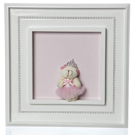 1b83f2c3a9bc8 Quadro Princesa Pérolas Ursa Mini Bailarina Quarto Bebê Infantil Menina -  Potinho de mel