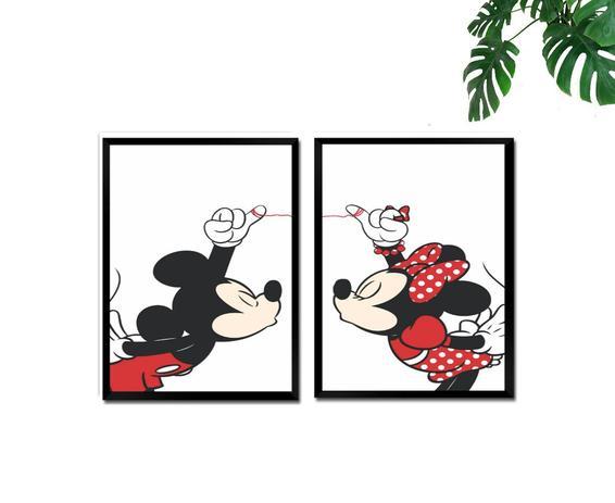 Quadros Decorativos 2 Pecas Amor Em Desenho Fourdec Quadro