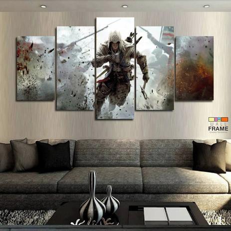 Imagem de Quadros Decorativos Jogo Assassin's Creed 63x13em Tecido