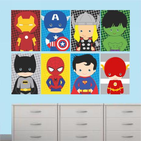 43a30dbbb4 Quadros Super Heróis Marvel Decorativo Infantil - Quadros mais ...