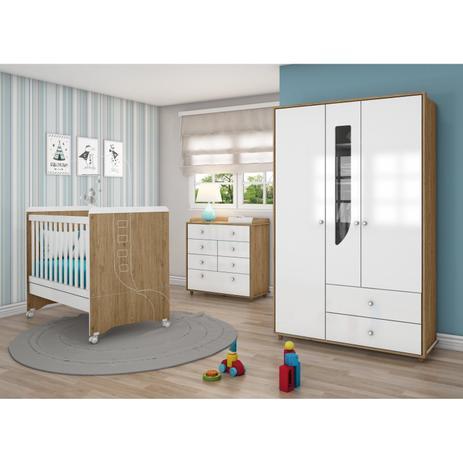 Quarto de beb completo com guarda roupa 3 portas c moda for Mobilia 9 6