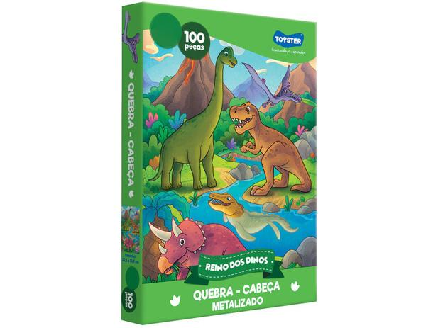 Imagem de Quebra-cabeça 100 Peças Dinossauros