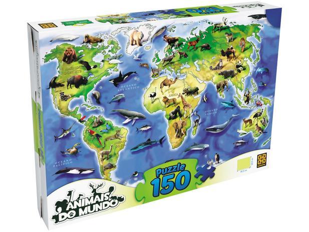 Imagem de Quebra-cabeça 150 Peças Puzzle Animais do Mundo