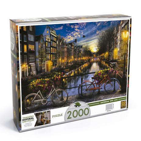 Imagem de Quebra-Cabeça - 2000 Peças - Verão em Amsterdã - Grow