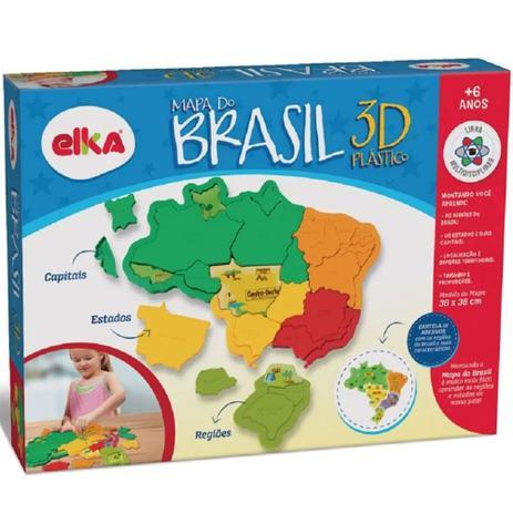 Imagem de Quebra-Cabeça 3D - Mapa do Brasil - Elka