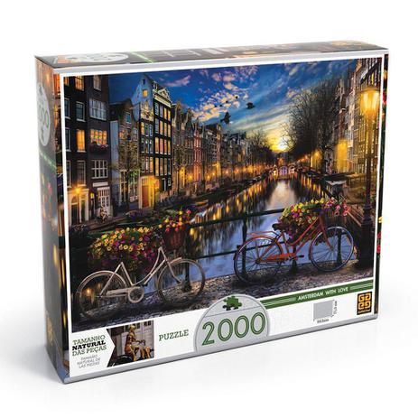 Imagem de Quebra-cabeça Amsterdã 2000 Peças - Grow