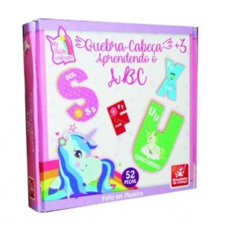 df9f64ae0d Quebra-Cabeça Aprendendo o ABC Meu Primeiro Unicórnio - Brincadeira de  Criança - Brincadeira de crianca