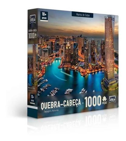Imagem de Quebra Cabeca Cartonado Paisagens Noturnas Marina Dubai 1000 Pecas Toyster