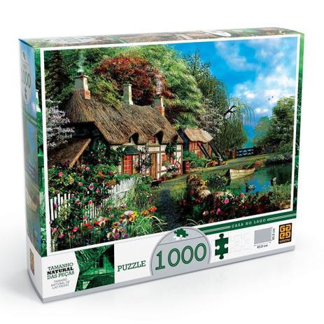 Imagem de Quebra-Cabeça - Casa no Lago 1000 Peças - Grow