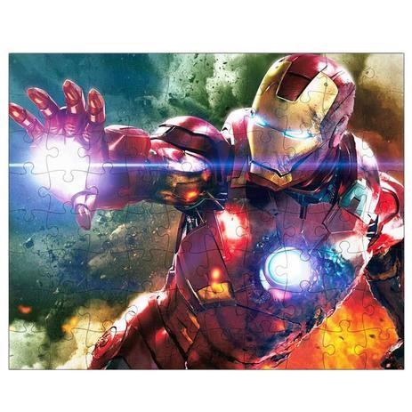 Imagem de Quebra-Cabeça Personalizado 90 Peças - 20 cm x 30 cm Iron Man Homem de Ferro (BD30)
