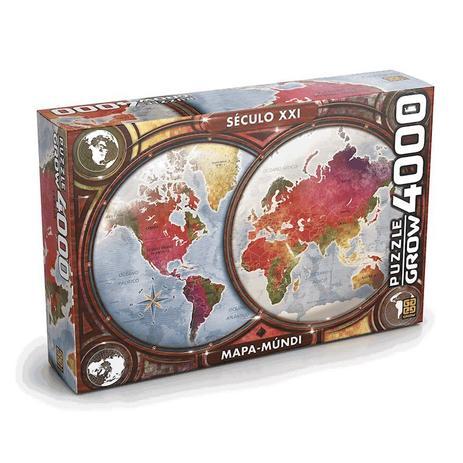 Imagem de Quebra Cabeca Puzzle Mapa Mundi 4000 Peas 3463 Grow
