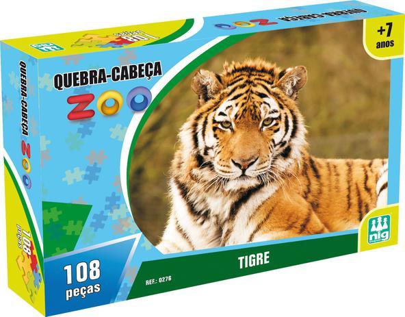 Quebra Cabeca Tigre 108 Pecas P Criancas Nig Brinquedos Quebra Cabeca Magazine Luiza
