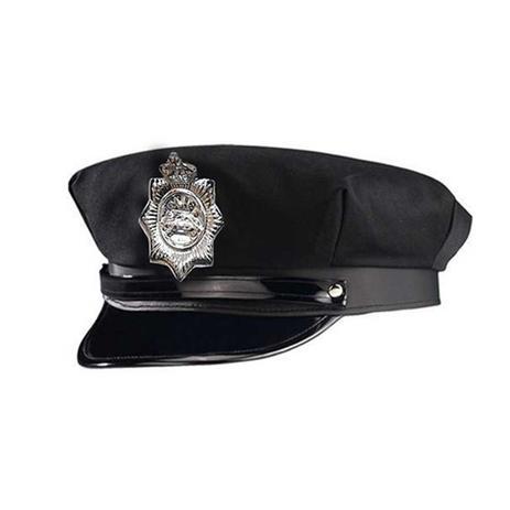 Quepe Policial Preto - Nyr - Artigos para Festa - Magazine Luiza a45f48386e5