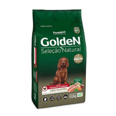Imagem de Ração golden cães seleção natural filhote raças médias 15kg