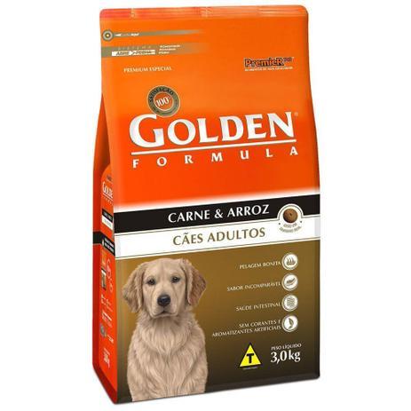 Imagem de Ração Golden Fórmula Para Cães Adultos Sabor Carne e Arroz