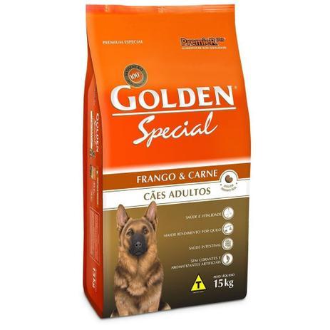 Imagem de Ração Golden Special Para Cães Adultos Sabor Frango e Carne 15 KG