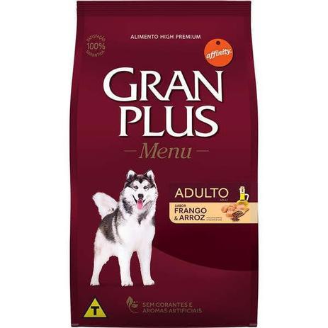 Imagem de Ração Gran Plus para Cães Adultos Sabor Frango e Arroz 20 Kg