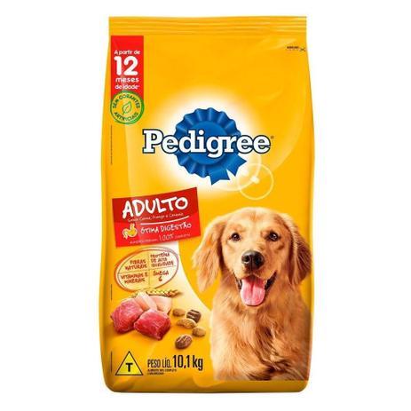 Imagem de Ração para Cachorro Pedigree Carne, Frango e Cereais 10,1Kg
