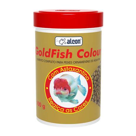 Imagem de Ração para peixes de aquário Colour Alcon Gold Fish 100g - Alimento completo realçador de cor para peixes