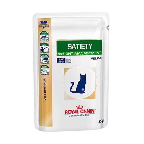 Imagem de Ração úmida Sachê Royal Canin Veterinaty Satiety para Gatos 85g