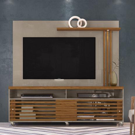 Imagem de Rack com Painel para TV até 60 Polegadas 2 Portas Fizz Madetec