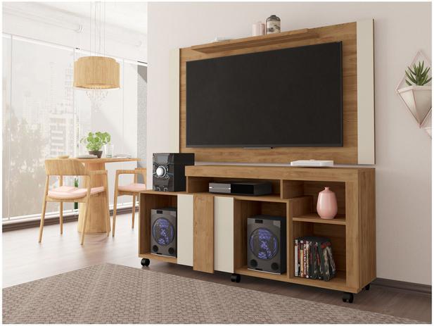 Porta Tv Rack.Rack Para Tv Ate 50 1 Porta De Correr Com Painel Para Tv Ate 55 Caemmun Premium Viena