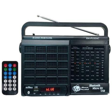 Imagem de Rádio 7 Faixas / Bluetooth/ Cartão micro SD/ USB e Controle Remoto/Motobras - Motobrás