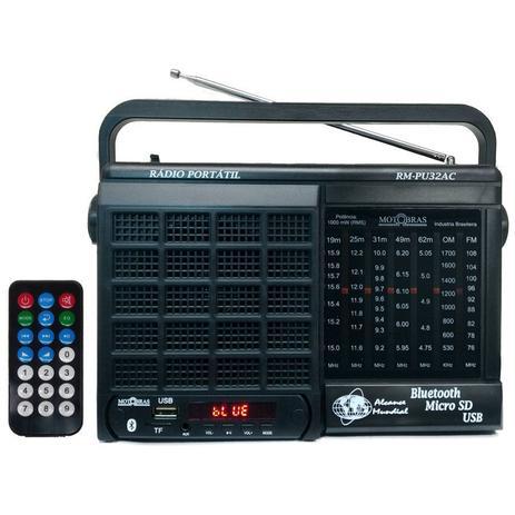 Imagem de Rádio 7 Faixas / Bluetooth/ Cartão micro SD/ USB e Controle Remoto/Motobras