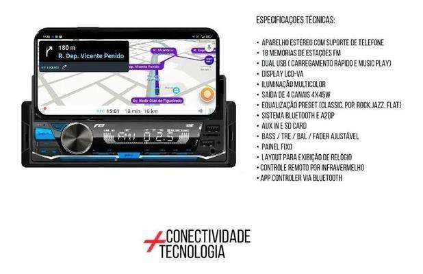 Imagem de Radio Auto Radio R8 1020bt Suporte Celular Usb Sd Bluetooth