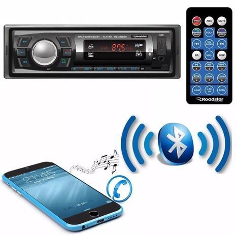 Imagem de Radio Automotivo Mp3 Player Roadstar Bluetooth Fm Usb 2606