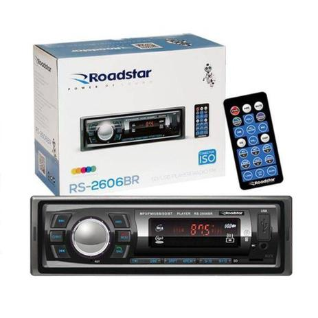 Imagem de Radio Automotivo Toca MP3 Roadstar RS-2606BR Bluetooth USB
