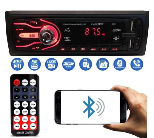 Imagem de Rádio Bluetooth Aparelho De Som Carro Automotivo Pendrive Sd Rádio