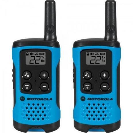 Imagem de Rádio Comunicador 25KM Talk About Azul T100BR (Par) Motorola