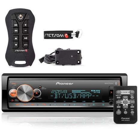 Imagem de Radio Mp3 Automotivo Pioneer Bluetooth Multi-Color  + Controle Stetsom Sx2 Light