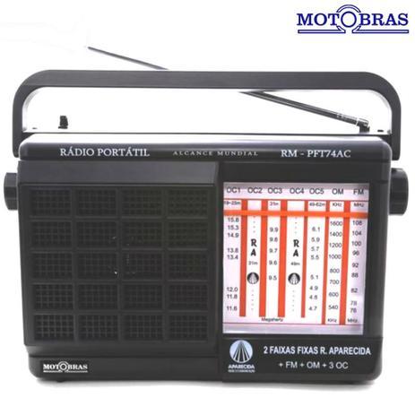 Imagem de Rádio Portátil 7 Faixas (Aparecida) RM-PFT74AC Motobras