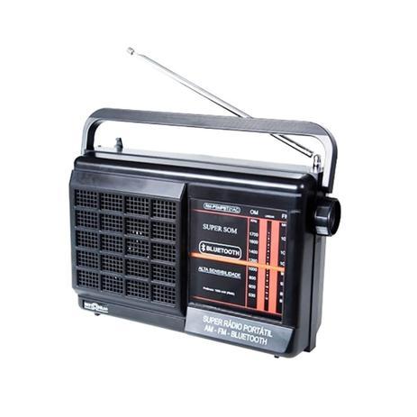 Imagem de Rádio Portátil AM e FM 2 Faixas Com Buetooth Motobras RM-PSMPBT21AC