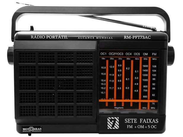 Imagem de Rádio Portátil AM/FM 7 Faixas RM-PFT 73AC - Motobras
