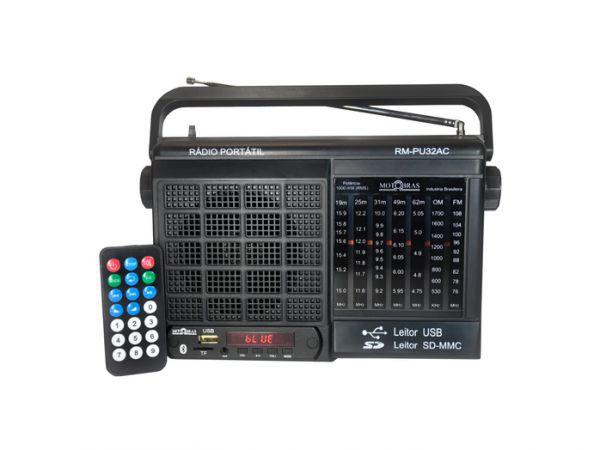 Imagem de Rádio Portátil, Bluetooth, AM/FM, USB, SD Card - Motobras