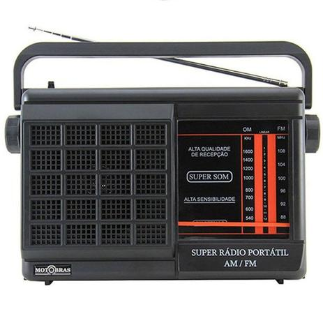 Imagem de Rádio Portátil Motobrás 2FXS AM FM RMPFT21AC/22AC