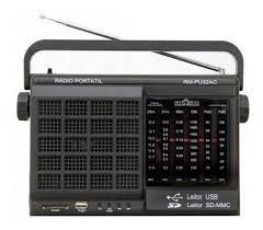 Imagem de Rádio Portátil Motobras RMPU32AC, AM/FM, USB/SD, Entrada para Fone de Ouvido