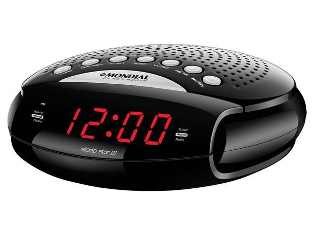04a3f208e00 Rádio Relógio AM FM Display Digital - RR-03 Sleep Star III Mondial ...