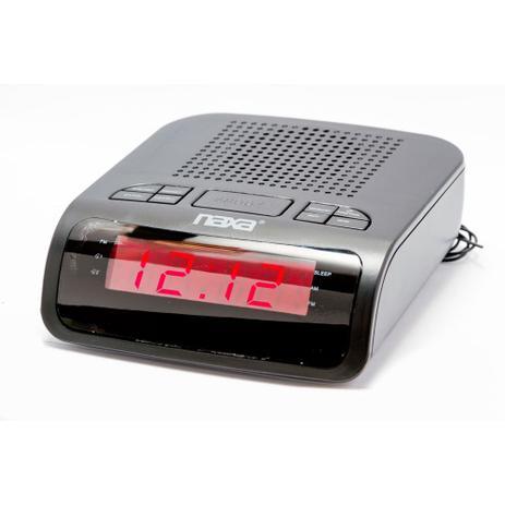 a042a129285 Rádio- relógio digital AM FM com 2 alarmes - Naxa - Rádio Relógio ...