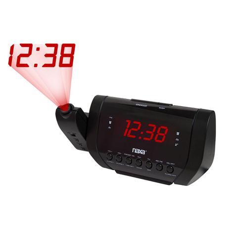 15e6c6e439c Rádio- relógio digital AM FM com projetor de horas - Naxa - Rádio ...