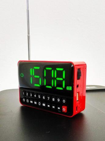 6fa67b592e2 Radio Relógio Digital com Despetador WS-1513 USB SD FM MP3 - Rádio ...
