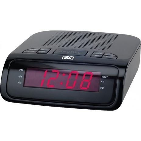e5c5e1659fa Rádio Relógio Digital Naxa AM FM Com 2 Alarmes 110v - Nrc-174 ...