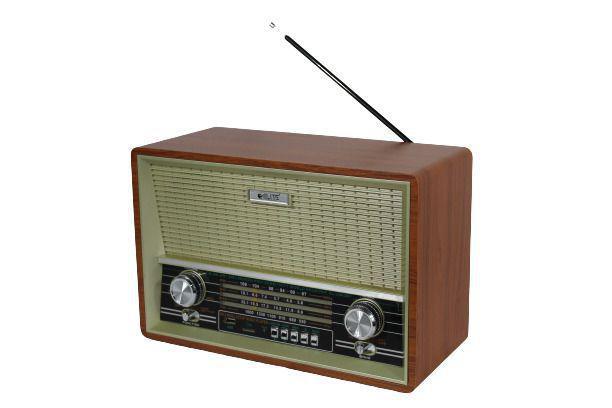 Imagem de Rádio Retro Am Fm Sw Bluetoooth Recarregavel Usb Mp3 2002
